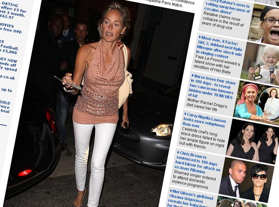 Sharon Stone coraz chudsza