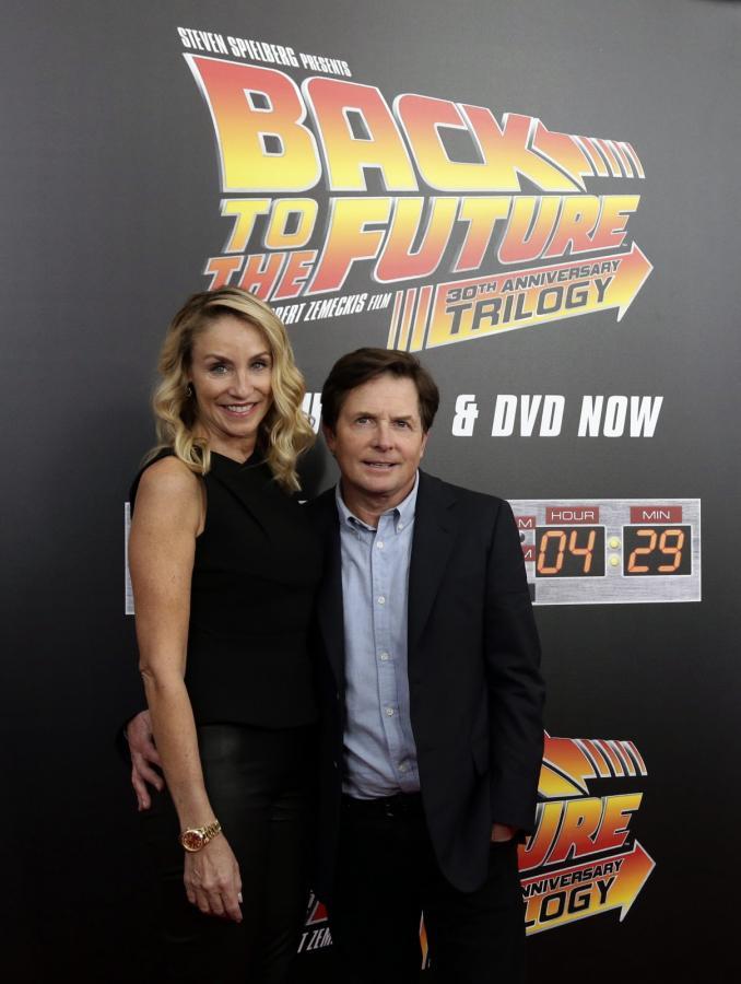 Michael J. Fox z żoną Tracy Pollan na 30-leciu legendarnej serii