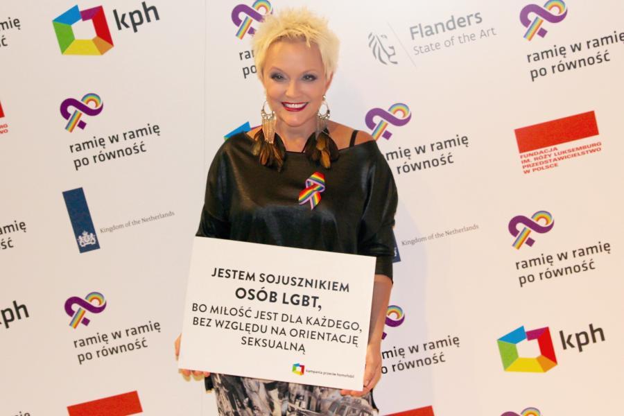 Małgorzata Ostrowska popiera środowiska LGBT