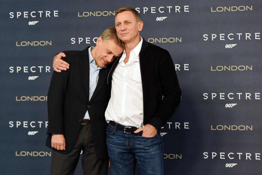 Christoph Waltz i Daniel Craig podczas spotkania z dziennikarzami