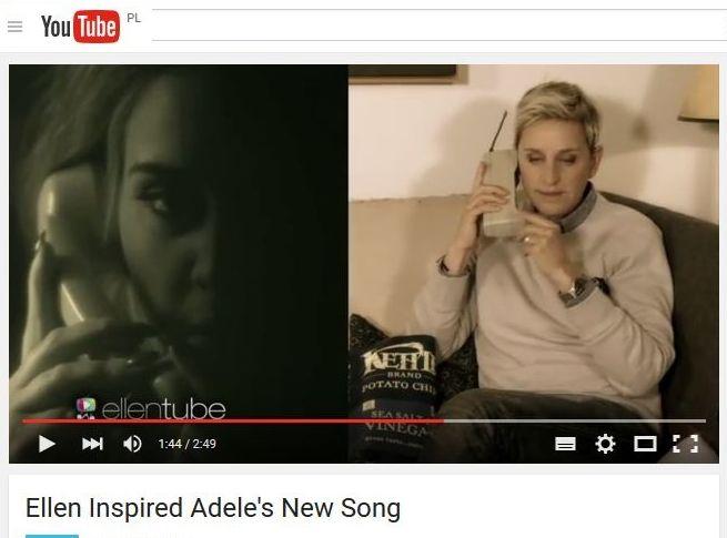 Ellen Degeneres i Adele