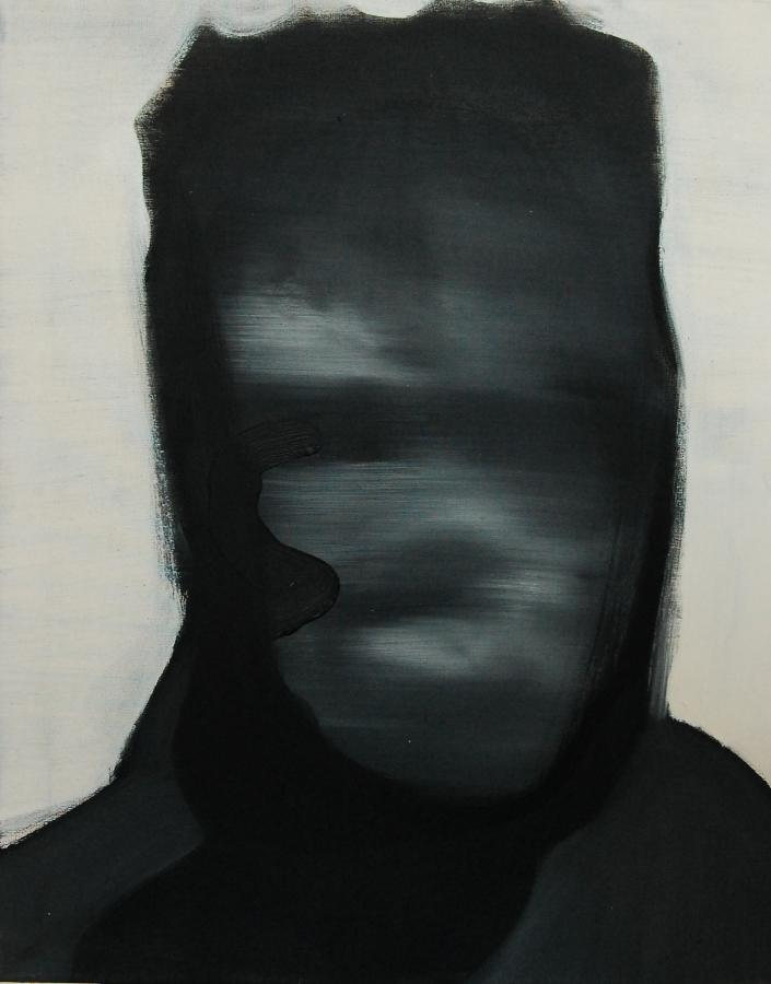 """""""Szkice do portretu 2"""", Cezary Bednarczyk, olej na płótnie, 50x40 cm"""