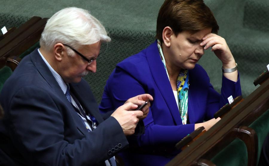 Szef MSZ Witold Waszczykowski i premier Beata Szydło