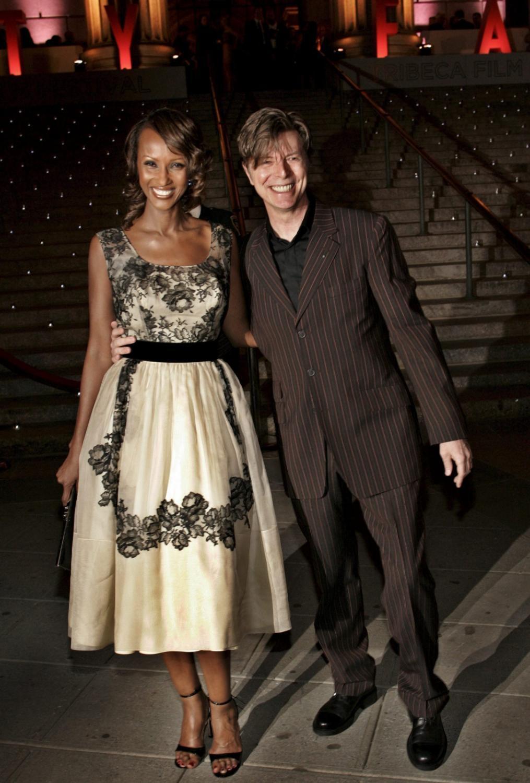 David Bowie z żoną Iman w 2005 roku