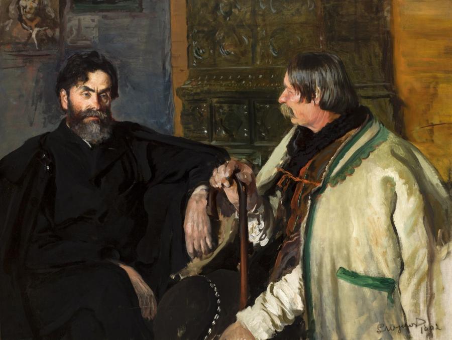 Leon Wyczółkowski - Stanisław Witkiewicz z Wojciechem Rojem