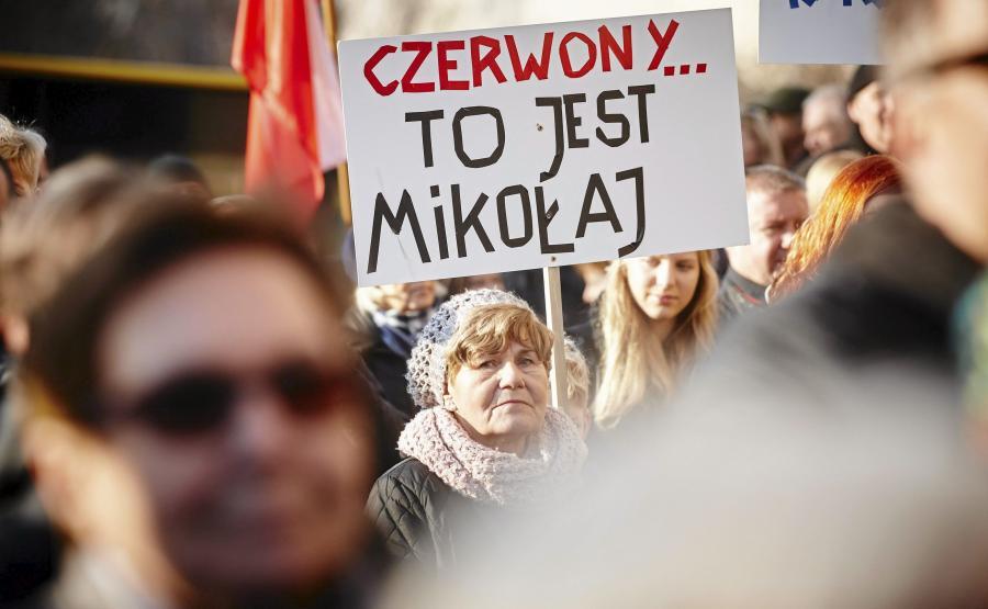 Łódź, manifestacja Komitetu Obrony Demokracji