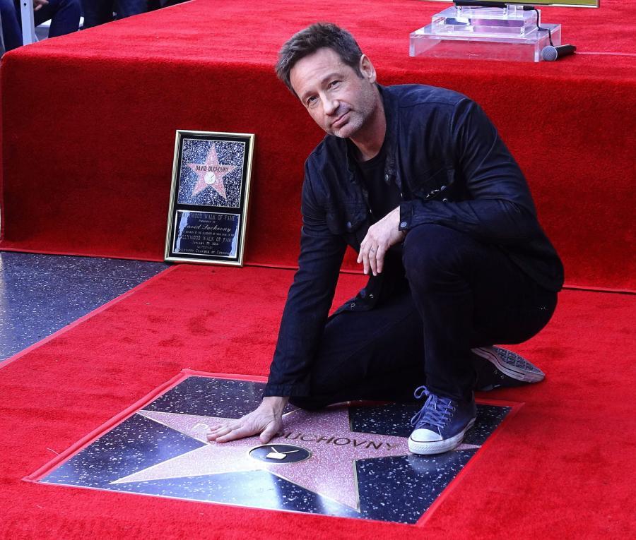Chcę uwierzyć – powiedział za agentem Foxem David Duchovny odsłaniając swoją gwiazdę
