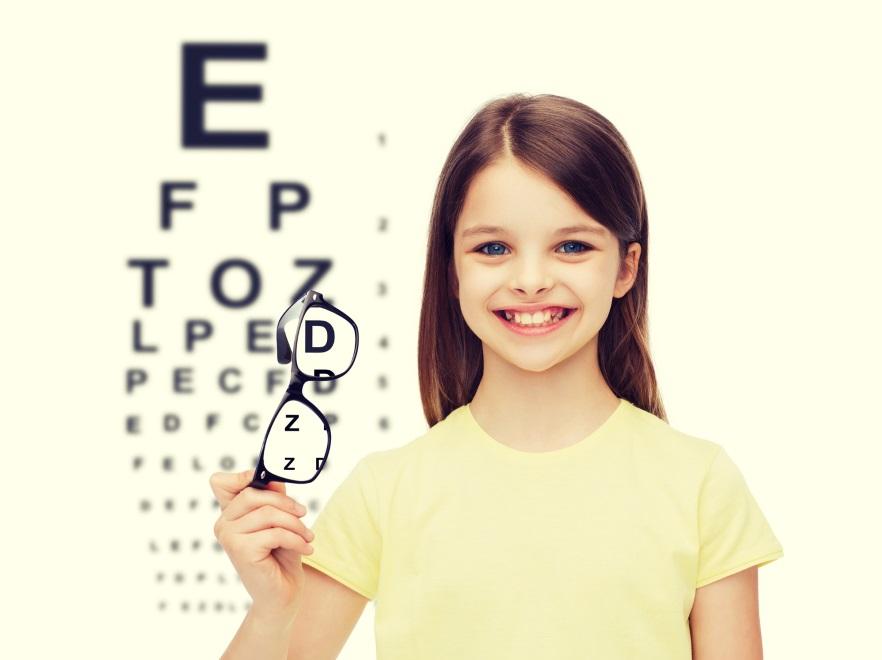 Dziewczynka z okularami