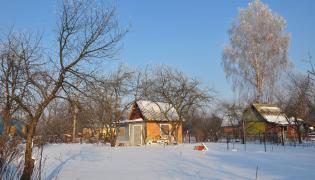 Małe domki na działkach