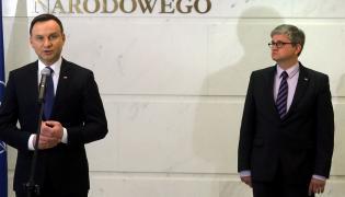 Prezydent Andrzej Duda i szef BBN Paweł Soloch