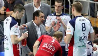 Siatkarze Zaksy Kędzierzyn-Koźle z trenerem Ferdinando de Giorgim