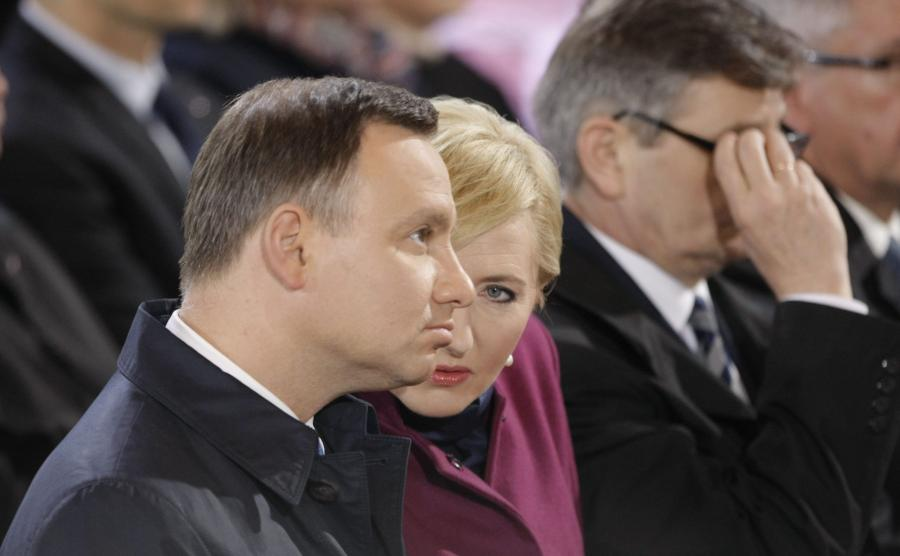 Prezydent Andrzej Duda z małżonką Agatą Kornhauser-Dudą