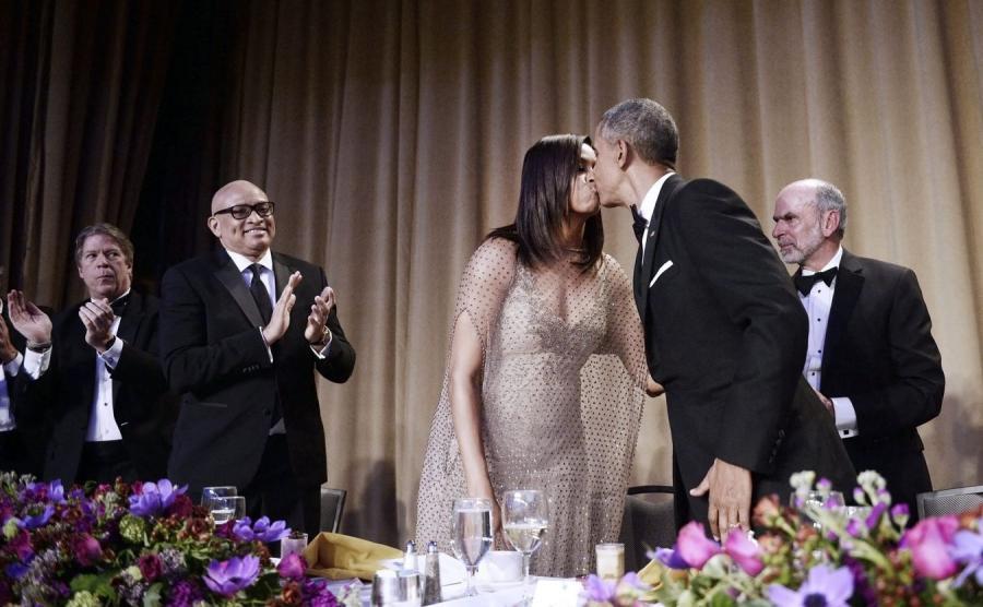 Pocałunek prezydenckiej pary