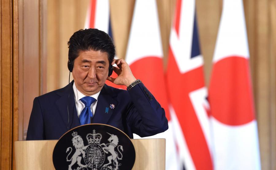 Premier Shinzo Abe w Londynie