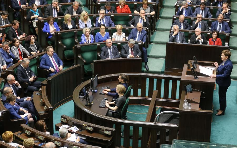 Premier Beata Szydo w Sejmie