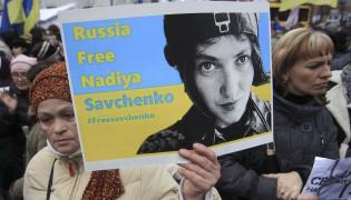 Demonstracja w obronie Nadii Sawczenko