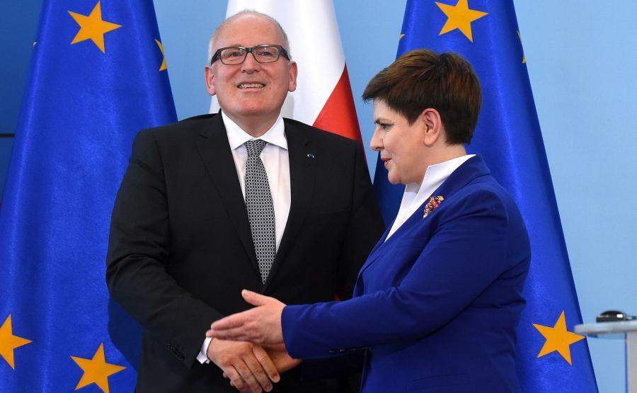 Premier Beata Szydło i Frans Timmermans