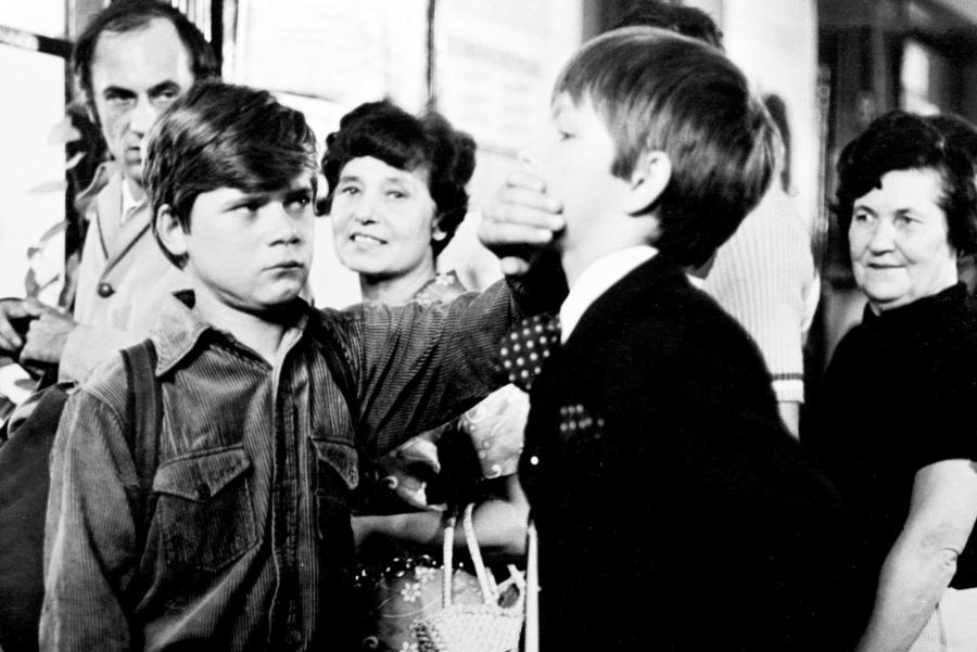 """Henryk Gołębiewski i Filip Łobodziński w filmie """"Podróż za jeden uśmiech"""" (1972)"""