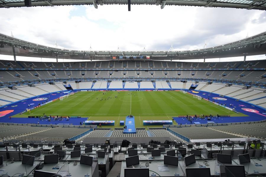 Stade de France w podparyskim Saint-Denis - tu Polacy zagrają z Niemcami