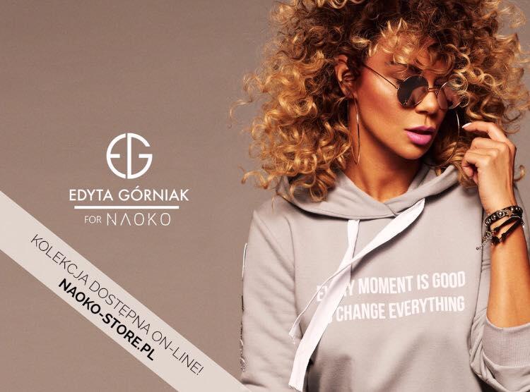 Edyta Górniak w kampanii promującej swoją kolekcję dla NAOKO