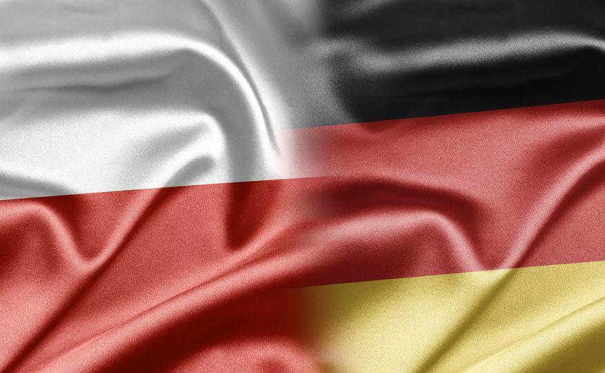 Flagi Polski i Niemiec