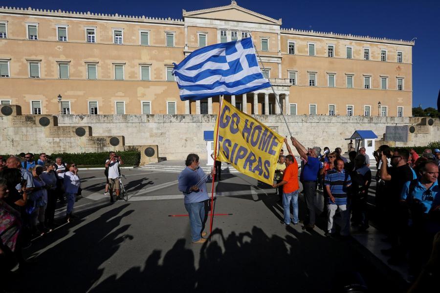 Antyrządowe protesty w Grecji