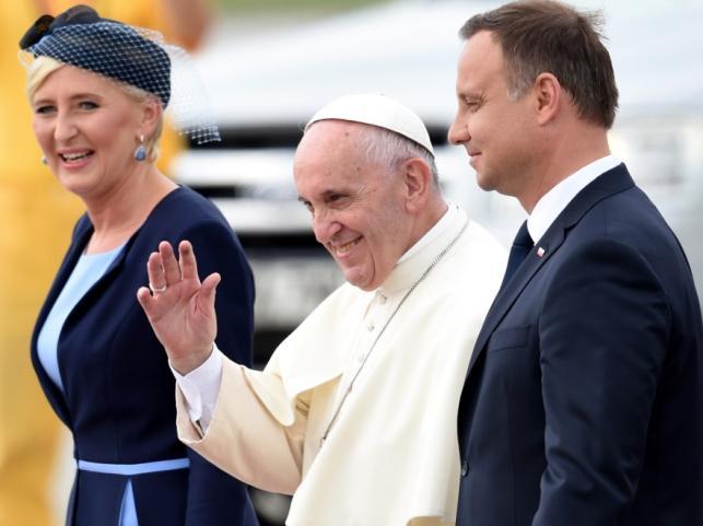 Agata Kornhauser-Duda,papież Franciszek i Andrzej Duda
