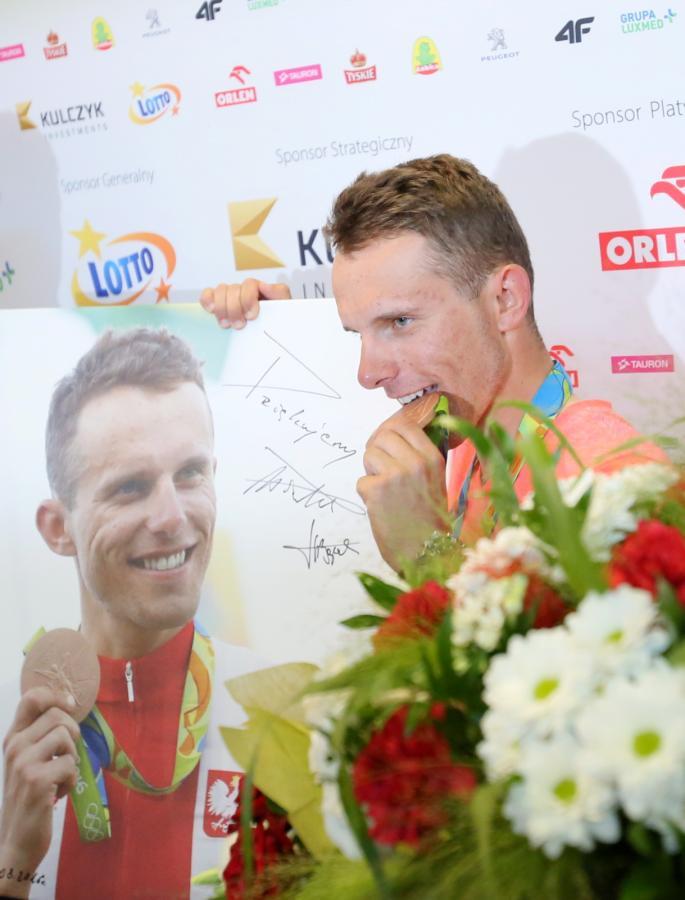 Rafał Majka już wrócił do kraju z brązowym medalem igrzysk olimpijskich