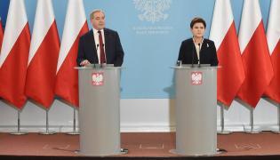 Henryk Kowalczyk i Beata Szydło