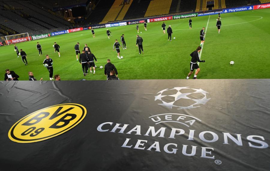 Piłkarze Legii Warszawa podczas treningu przed meczem z Borussią w Dortmundzie