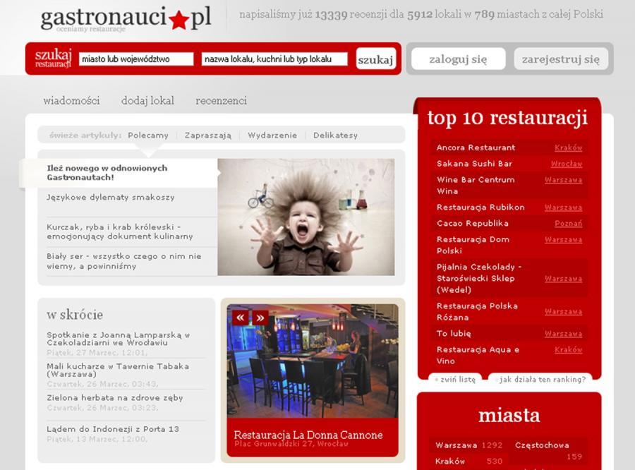Nowa odsłona Gastronautów.pl