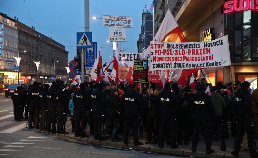 Manifestacja zwolenników PiS