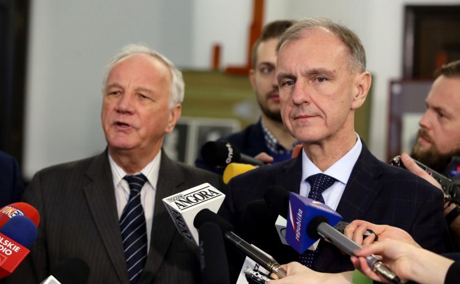 Bogdan Klich i Jan Rulewski