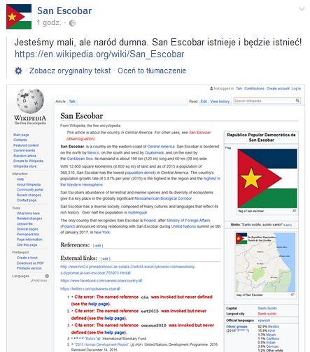 San Escobar w Wikipedii