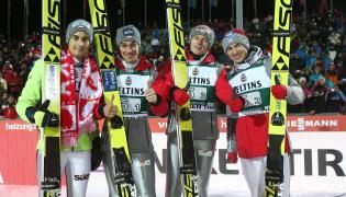 Dawid Kubacki, Piotr Żyła, Maciej Kot i Kamil Stoch