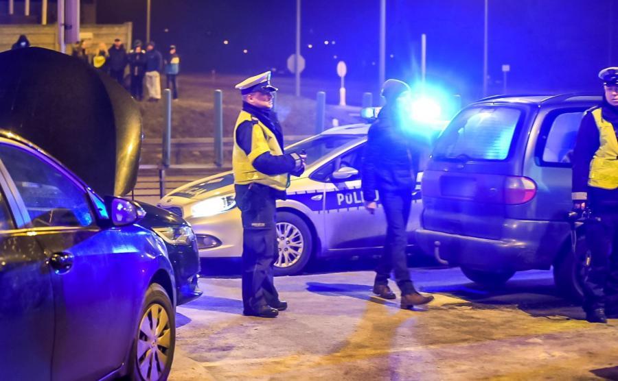 Miejsce wypadku, w którym uczestniczył samochód z ministrem obrony narodowej Antonim Macierewiczem