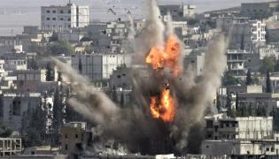 Bombardowanie syryjskiego miasta