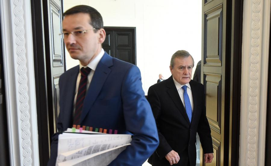 Wicepremier Mateusz Morawiecki i wicepremier Piotr Gliński