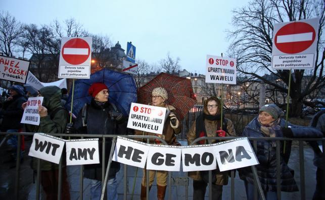 Protesty w Krakowie