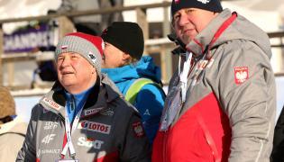 Prezes Polskiego Związku Narciarskiego Apolloniusz Tajner (L) i wiceprezes PZN Andrzej Wąsowicz (P)
