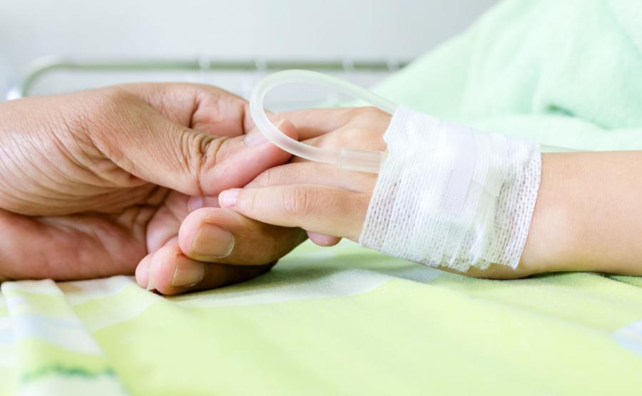 Chore dziecko w szpitalu