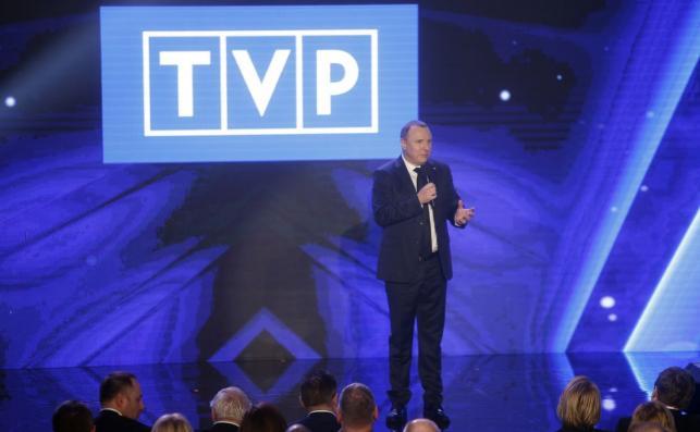 Jacek Kurski na konferencji TVP