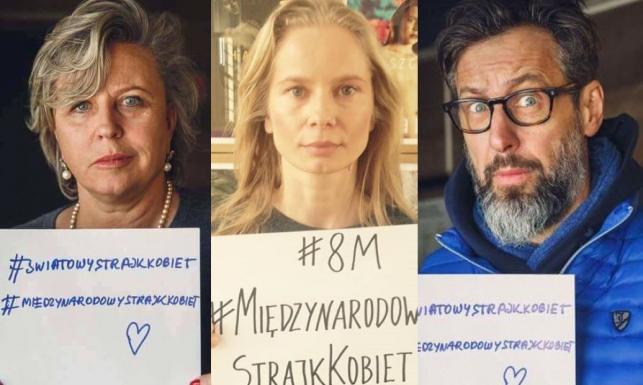Solidarni z kobietami. Gwiazdy wezmą udział w organizowanym 8 marca Strajku Kobiet