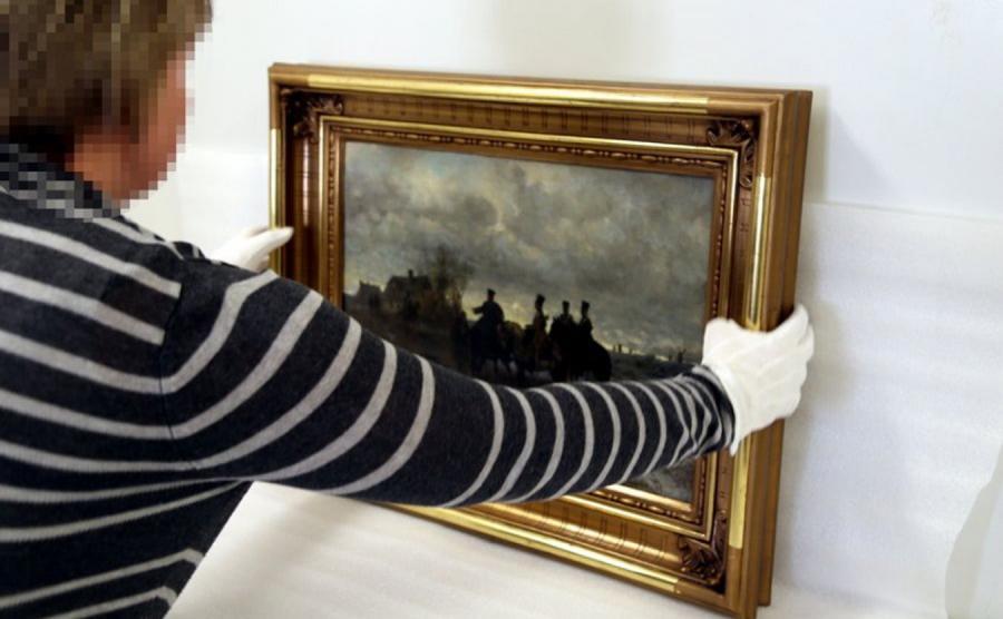 Zabezpieczony przez policję obraz Maksymiliana Gierymskiego